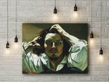 Gustave Courbet: The Desperate Man. Fine Art Canvas.